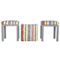 Set of 3 Square Stools by Harvey Probber