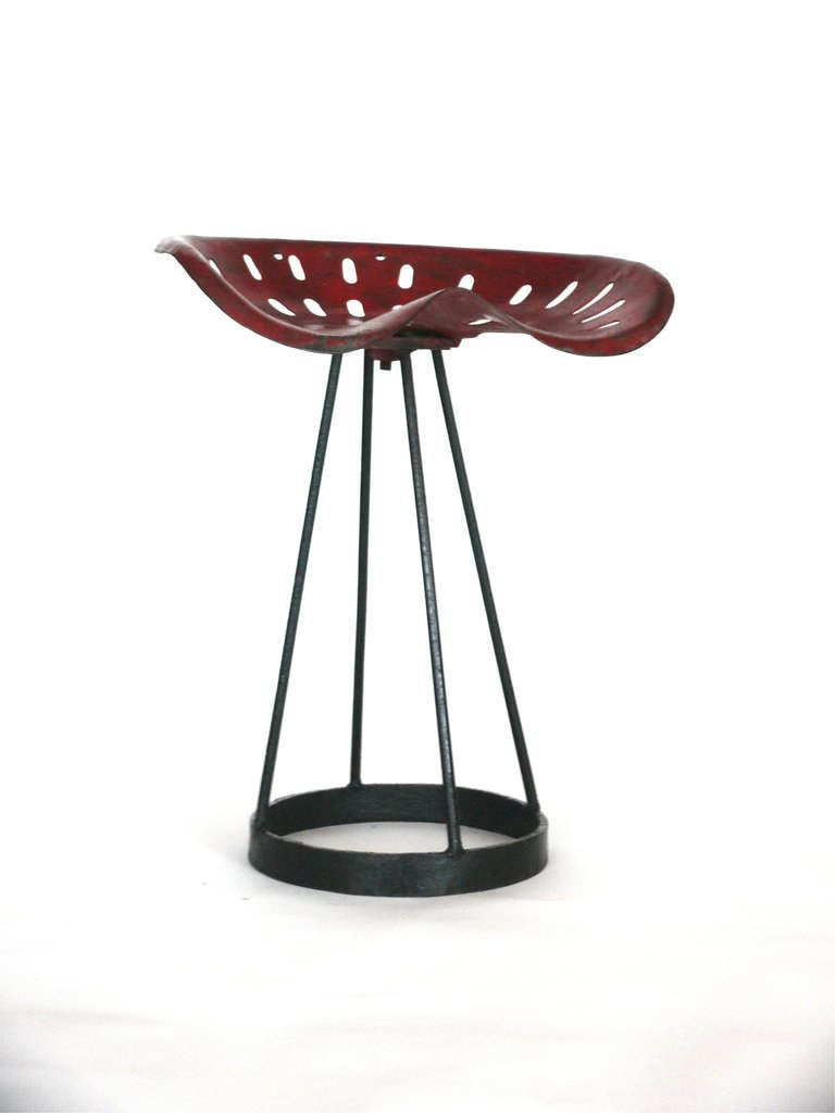 French Perforated Iron Stool at 1stdibs : L1850334l from www.1stdibs.com size 768 x 1024 jpeg 29kB