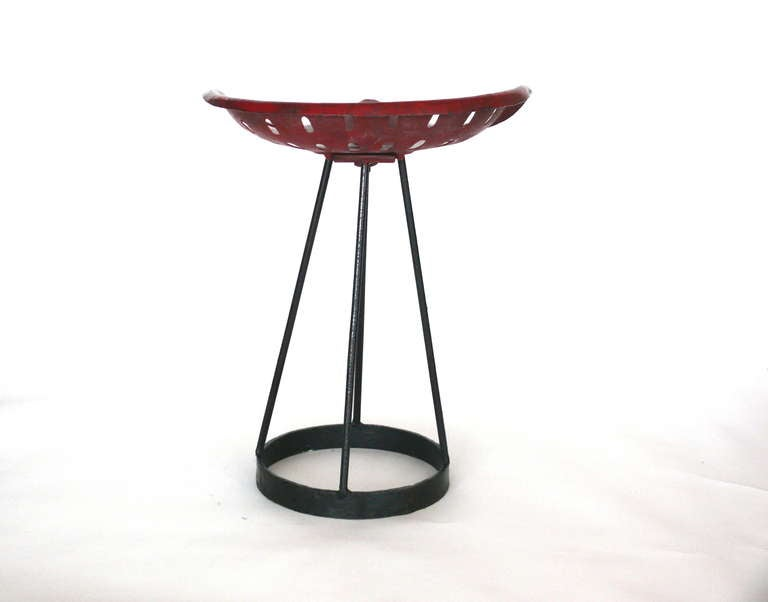French Perforated Iron Stool At 1stdibs