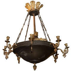 French Empire Style 8 Arm Chandelier