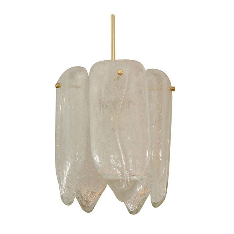 Tear Drop Glass Ceiling Light at 1stdibs