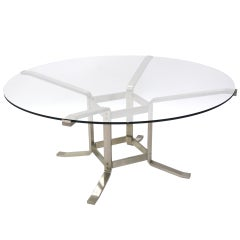 Italian Steel and Glass Game Table