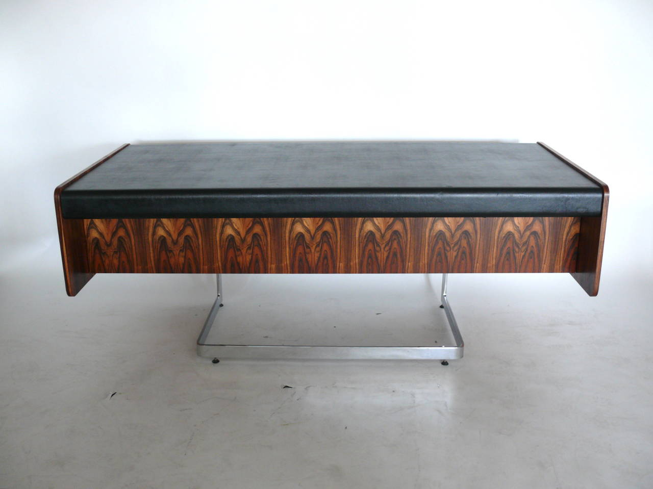 Exquisite Rosewood Desk By Ste Marie Lau Floats On Top Of Newly