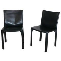 Black Leather Bellini Chair