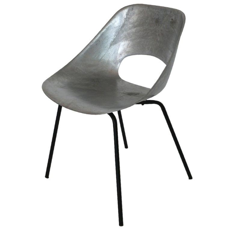 tonneau cast aluminum chair by pierre guariche at 1stdibs. Black Bedroom Furniture Sets. Home Design Ideas
