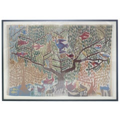 """Large Woven """"Tree of Life"""" Tapestry"""