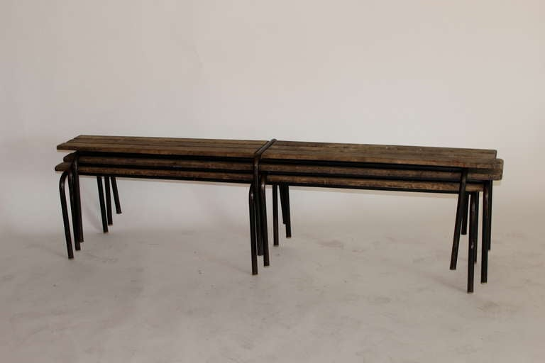 French Wood and Iron Bench 3