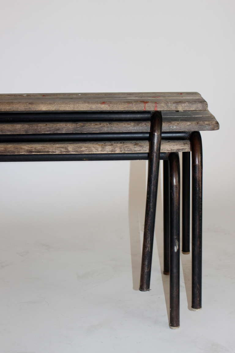 French Wood and Iron Bench 4