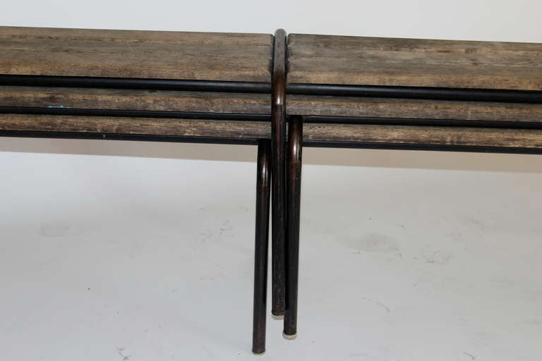 French Wood and Iron Bench 5