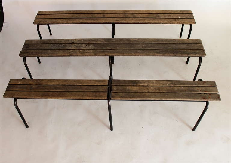 French Wood and Iron Bench 8