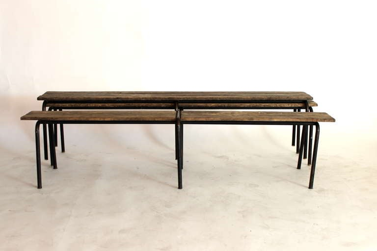 French Wood and Iron Bench 6