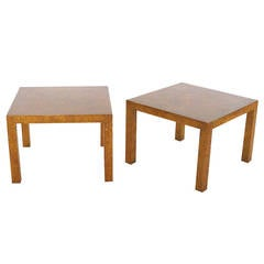 Pair of Faux Tortoise Shell Parson Tables
