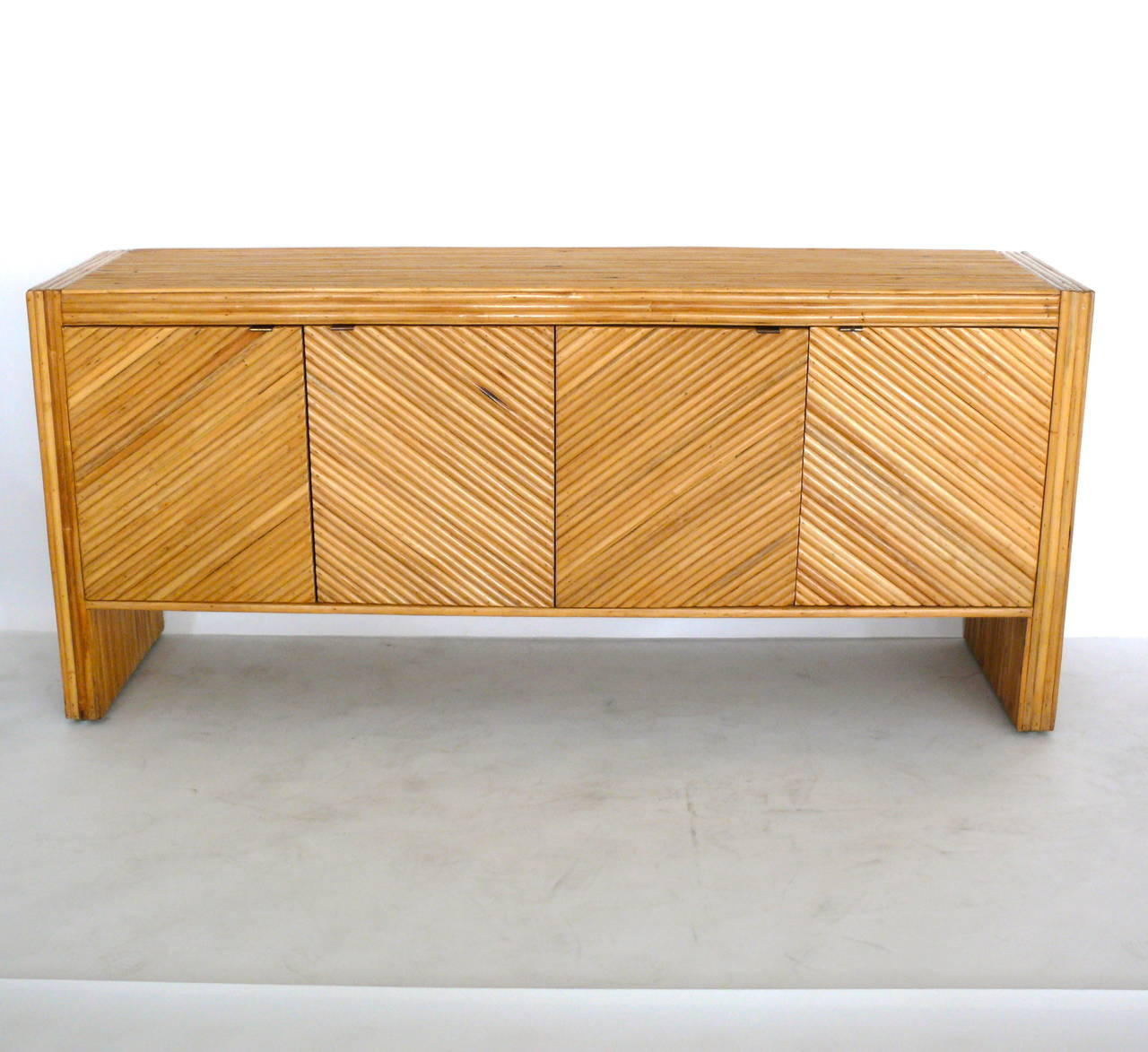 Rattan sideboard in the style of milo baughman at 1stdibs for Sideboard rattan