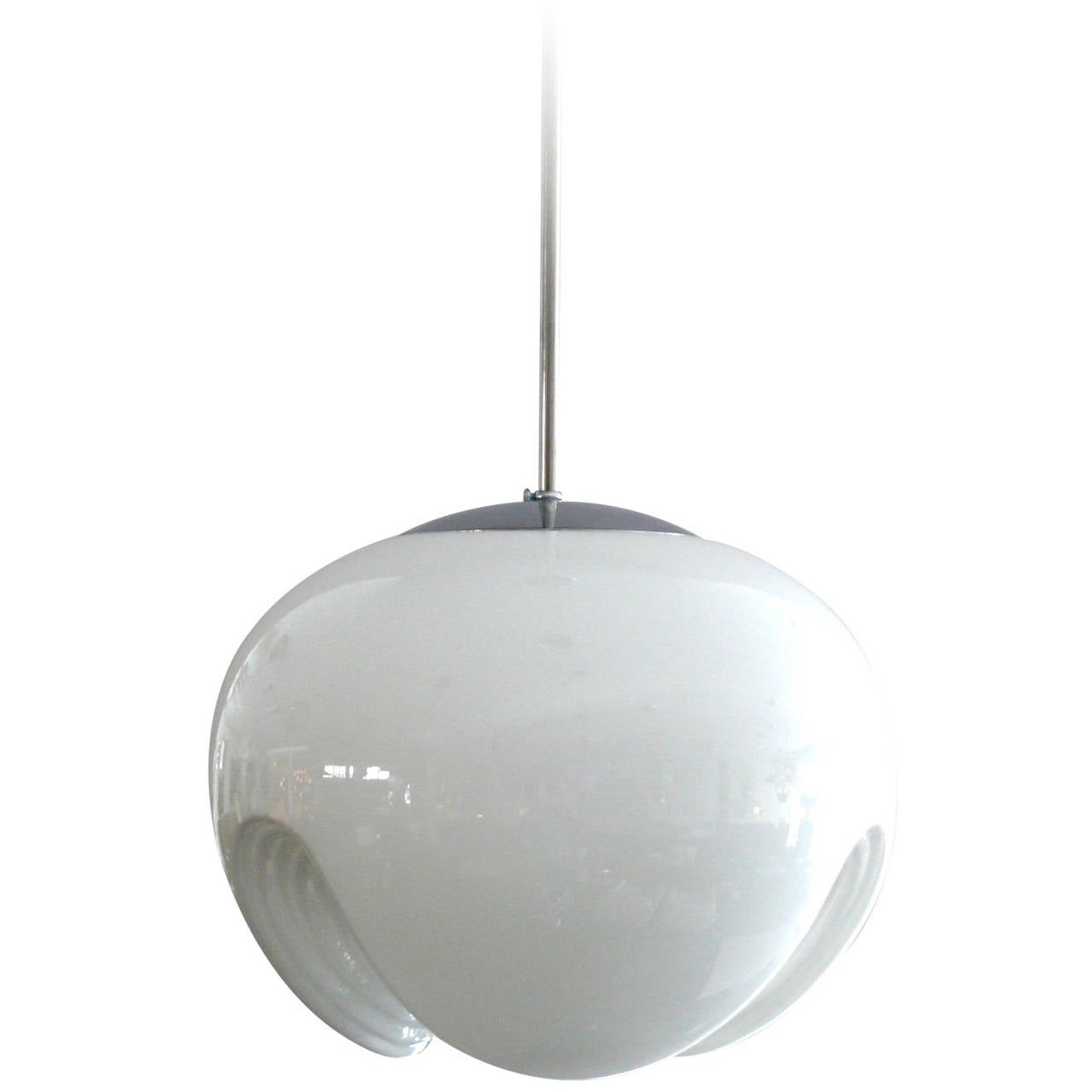 Large Koch and Lowy Milk Glass Pendant