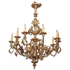 Italian Giltwood and Gesso Chandelier
