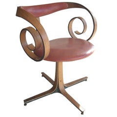 George Mulhauser for Plycraft side/desk swivel chair.