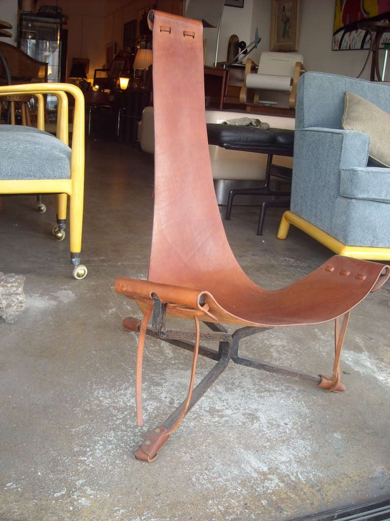 American Daniel Wenger sling leather and iron frame