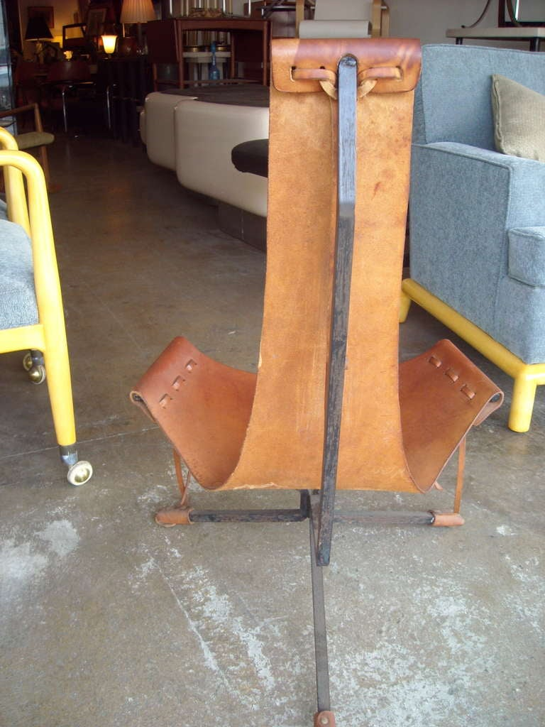 Daniel Wenger sling leather and iron frame
