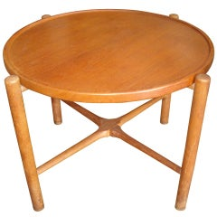Hans Wegner Rare Coffee/Cocktail Table With Folding Legs Branded Andreas Tuck