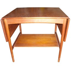Hans Wegner Drop Leaf Side Table For Andreas Tuck, Stamped