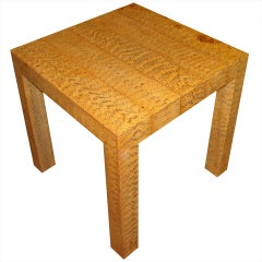 Faux Python Snakeskin Side/end Table in the style of Karl Springer.