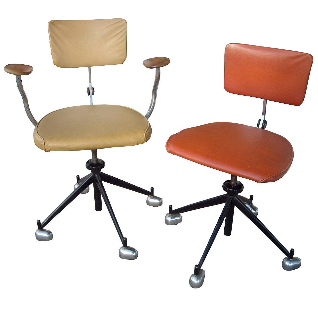 Jørgen Rasmussen Two Industrial Modern Kevi Office or Desk Chairs, Adjustable