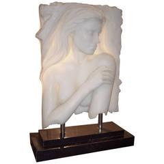 Bill Mack Relief Sculpture Resin, Self Standing Nude Woman