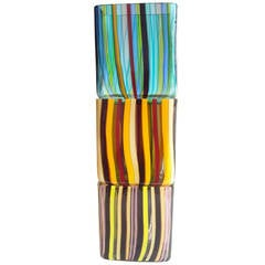 Johanna Grawunder Murano Stackables Three Vases for Salviati, Signed Dated