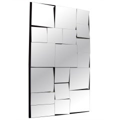 Vintage abstract,facetted, cubist wall mirror in style of Neal Small