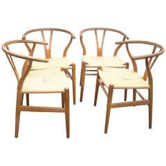 Hans Wegner CH 24 Original Set of Two o Wishbone Chair Y for Carl Hansen, Denmar