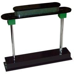 "Ettore Sottsass ""Pausania"" table /desk lamp, for Artemide, Label"
