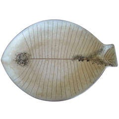 Large Lagardo Tackett Studio Fish Ceramic/Pottery Glazed Platter.