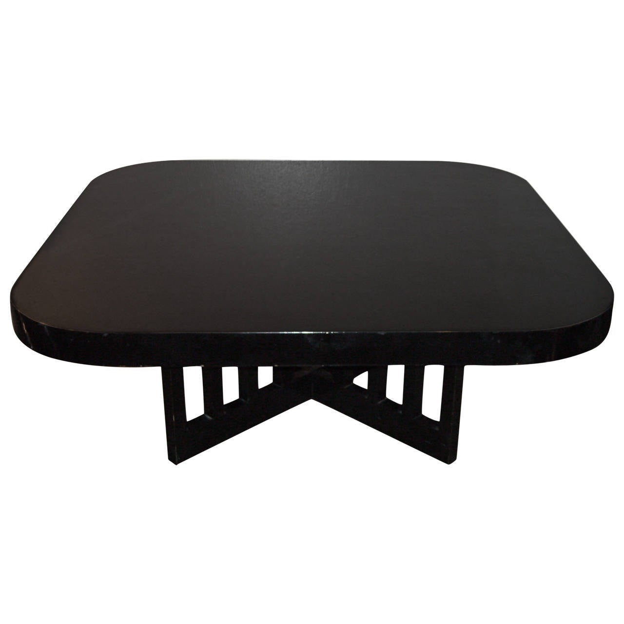 Richard Meier Coffee or Cocktail Table for Knoll Lacquered Wood Black