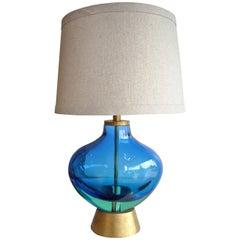 Flavio Poli for Seguso Monumental, Murano Glass Table Lamp