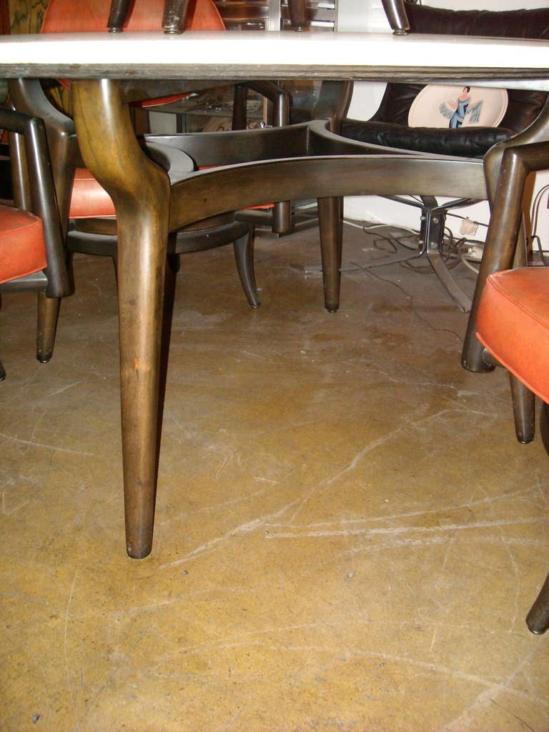 young dining travertine table top and 4 swivel chairs at 1stdibs