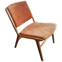 "Peter Hvidt ""AX"" chair for Fritz Hansen faded stamp"