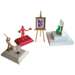 Bruce Houston instant Sculptures Collection, Signed Dated, Set of Four