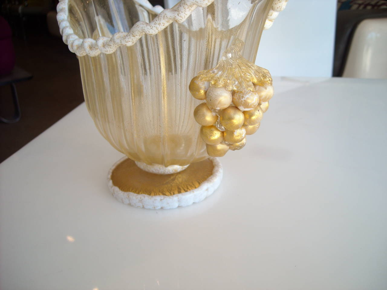 Ercole barovier murano glass and gold centerpiece for