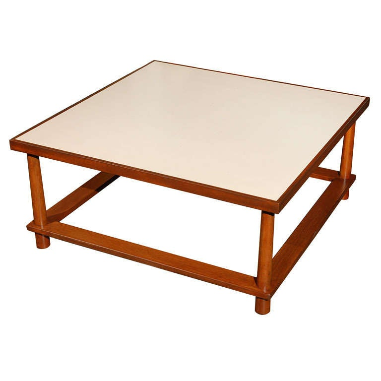 Robsjohn gibbings square coffee cocktail table formica top at 1stdibs Formica coffee table