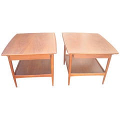 Moreddi Pair of Side/End Tables in Teakwood, Stamped