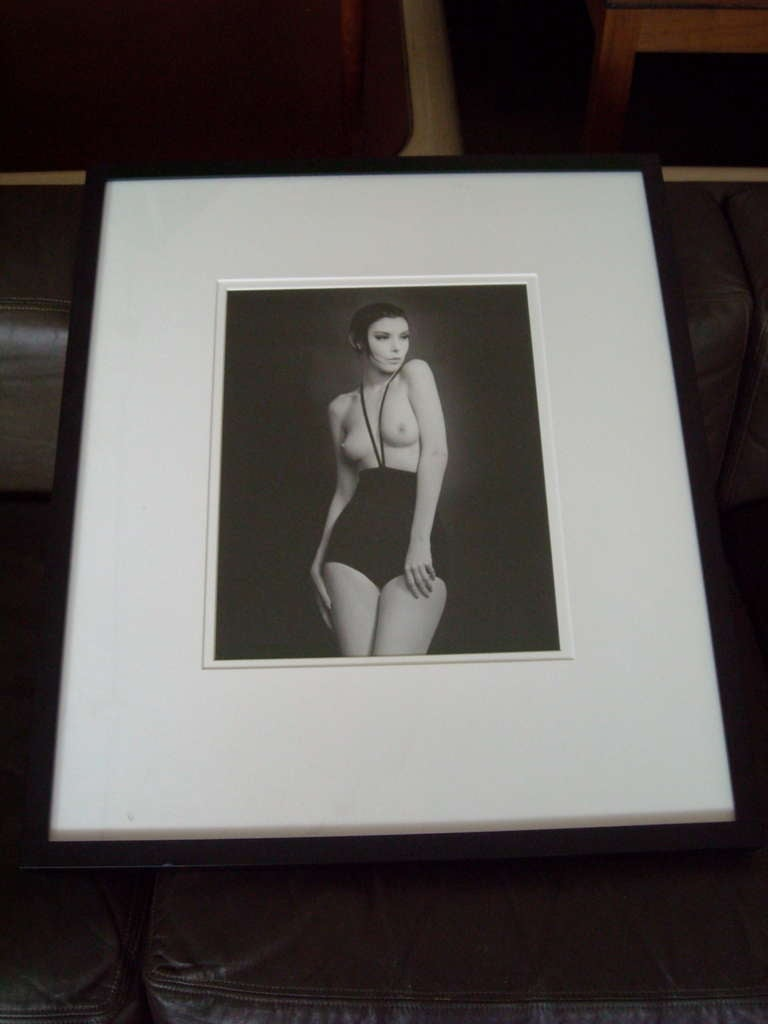 Mid-Century Modern William Claxton Silver Gelatin Print of Peggy Moffit, Signed and Dated For Sale