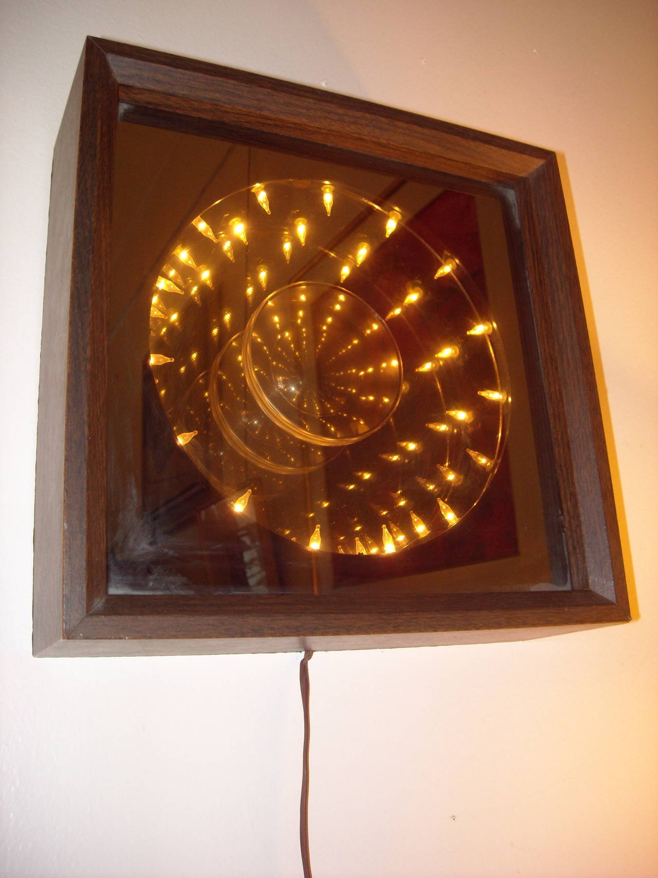 Pop Art Wall Infinity Mirror With Spinning Motion At 1stdibs