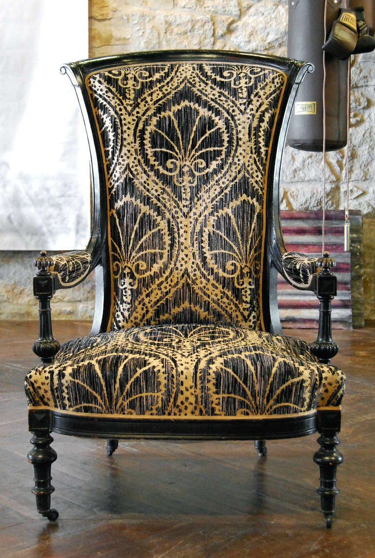 Antique Black and Tan Chairs 2