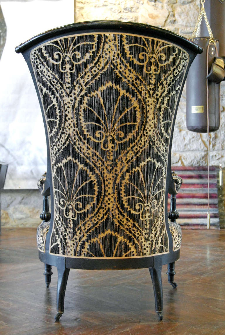 Antique Black and Tan Chairs 3