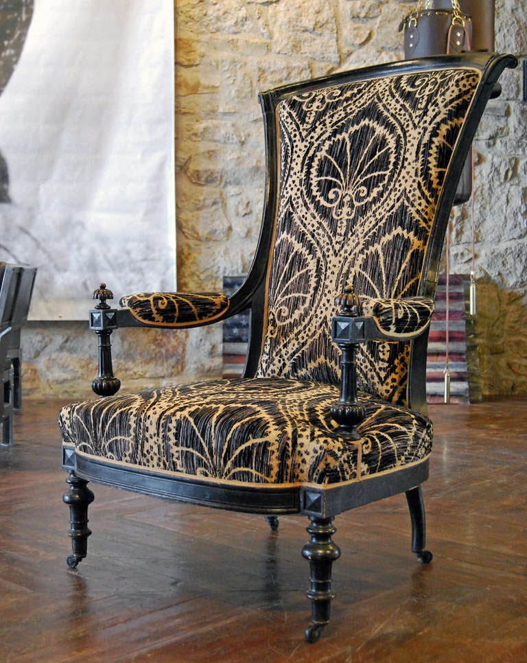 Antique Black and Tan Chairs 4
