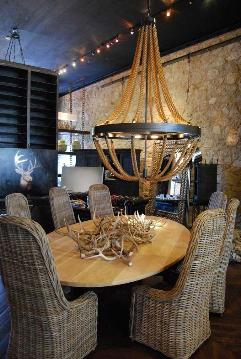 Contemporary Rope Chandelier For Sale