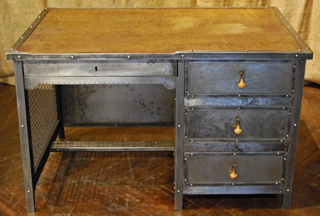 vintage steel furniture. interesting furniture vintage steel desk 2 to furniture