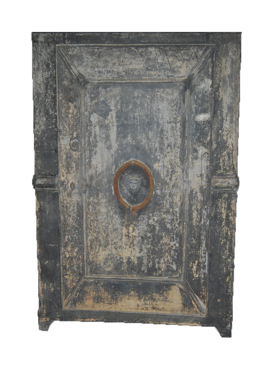 zinc garden cabinet In Distressed Condition For Sale In St. Helena, CA