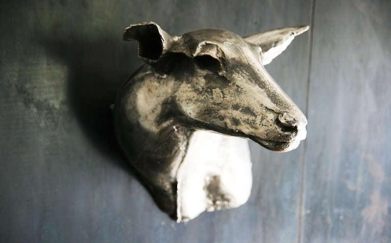 "American ""Family Eldridge"" Deer Wall Sculpture For Sale"