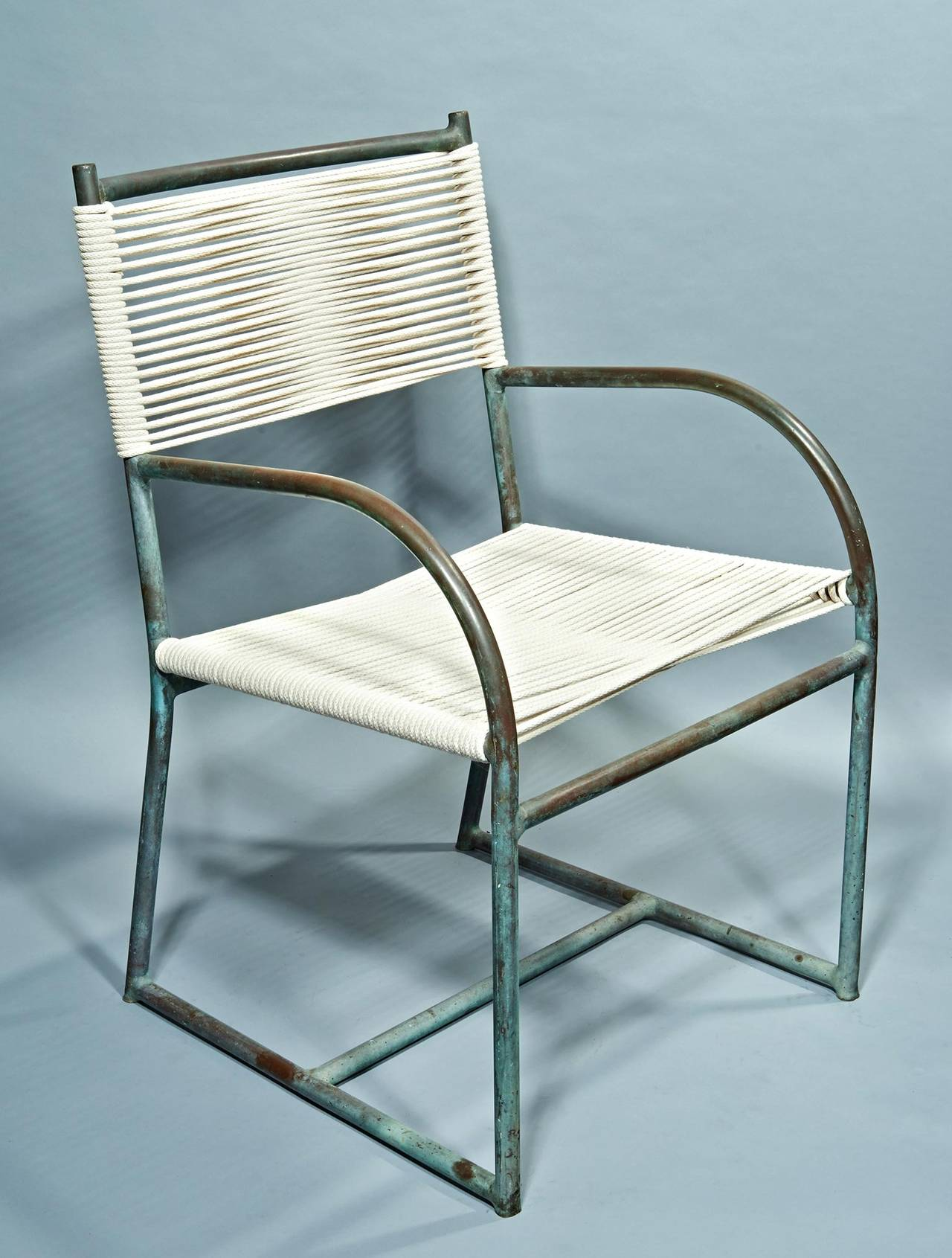 Pair of Bronze Armchairs by Walter Lamb at 1stdibs